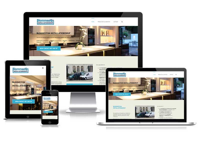 Blommestijn Installatiebedrijf - responsive design