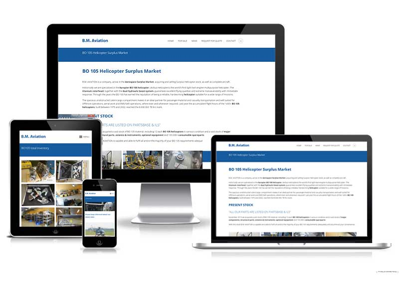 BM Aviation - responsive design