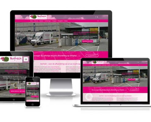 Bofresh - responsive design - mobielvriendelijke website