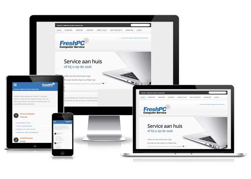 Freshpc Computer Service - responsive website