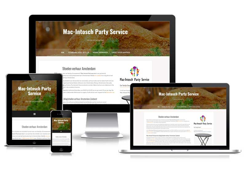 Mac Intosch Party Service - responsive website