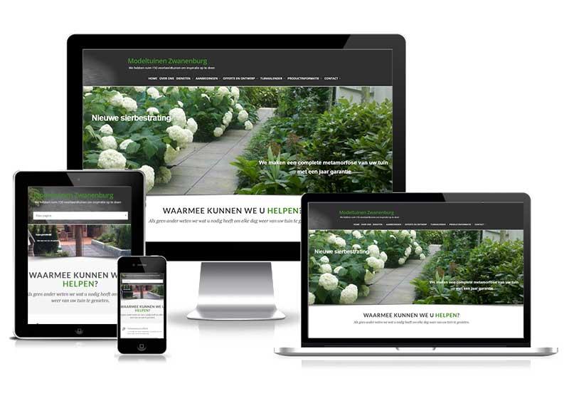 Modeltuinen Zwanenburg - responsive website