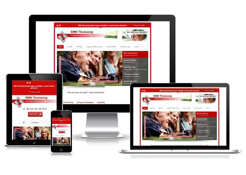 Dagactiviteiten SMN Thuiszorg - responsive website