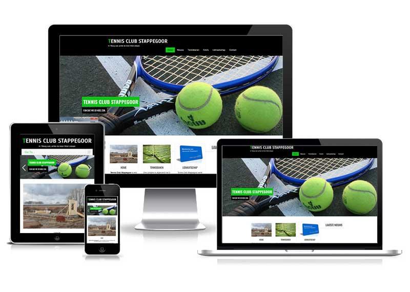 Tennisclub Stappegoor responsive wesite