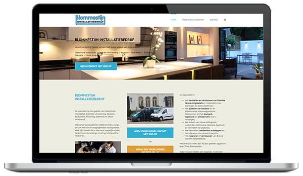 Website maken WordPress - Blommestijn installatiebedrijf - Badkamers, keukens, riolering, dakwerk en totaal onderhoud
