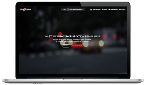 Website maken WordPress - Cars 2 Europe - Direct uw auto verkopen online