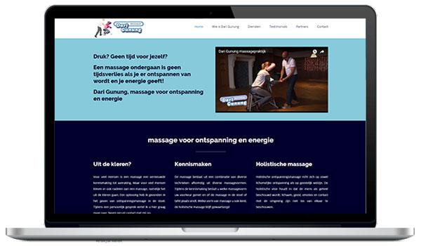 Website maken WordPress - Dari Gunung stoelmassage