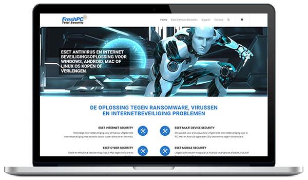 Website maken WordPress - PC beveiliging. Eset antivirus en internet beveiligingsoplossing voor Windows, Android, Mac of Linux OS kopen of verlengen