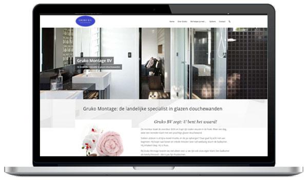 Website maken WordPress - Gruko Montage BV. De landelijke specialist in glazen douchewanden