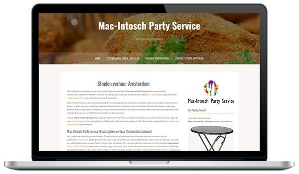 Website maken WordPress - Mac-Intosch party service - Stoelen en tafels verhuur Amsterdam
