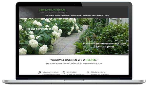 Website maken WordPress - Sierbestrating Modeltuinen Zwanenburg- met 150 voorbeeldtuinen