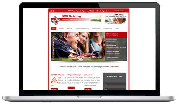 Website maken WordPress - SMN Thuiszorg dagactiviteiten te Amsterdam