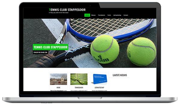 Website maken WordPress - Tennisclub Stappagoor voor een gezeliig potje tennis