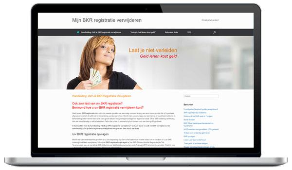 Website maken WordPress - BKR verwijderen