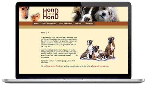 Website maken WordPress - Wandelmaatje gezocht voor hond zoekt hond