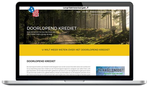 Website maken WordPress - ZKC krediet zaandam