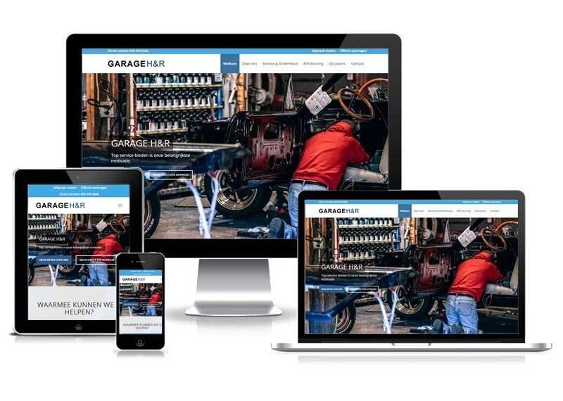 Website ontwerp Garage H&R